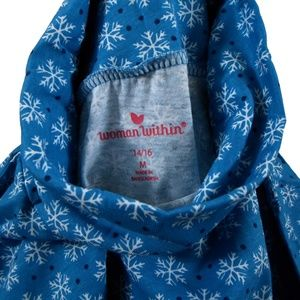 Woman Within Sweaters - Snowflake Turtleneck